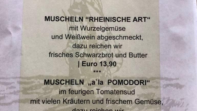 Muscheln im Klabautermann